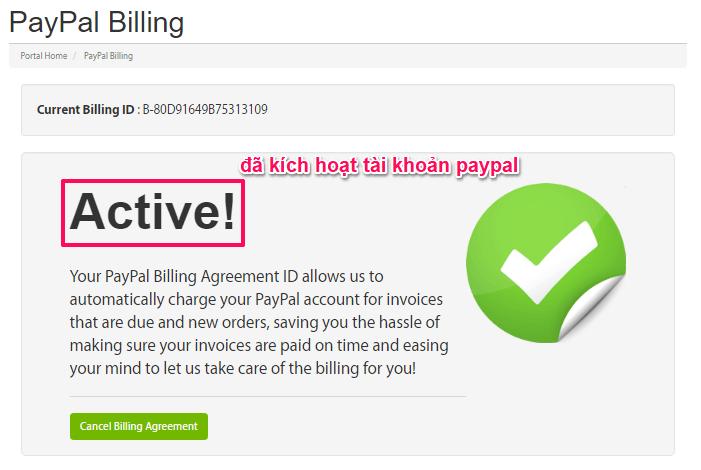 Tài khoản Paypal được active | goccuaphu.com