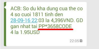 ma link tai khoan paypal voi the ngan hang