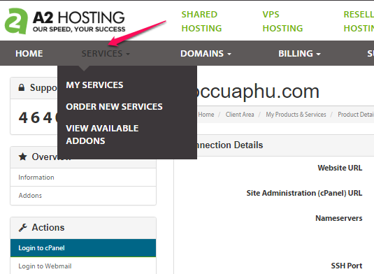 tab-service-cua-a2-hosting