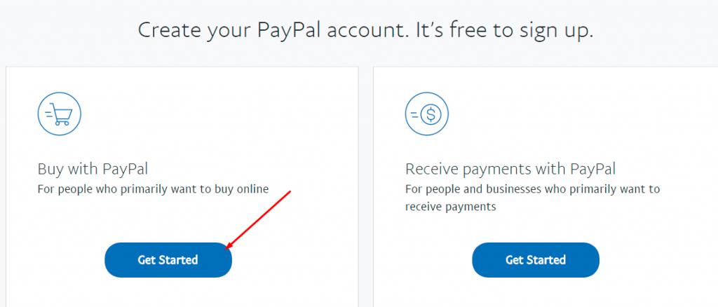 tạo tài khoản buy with paypal