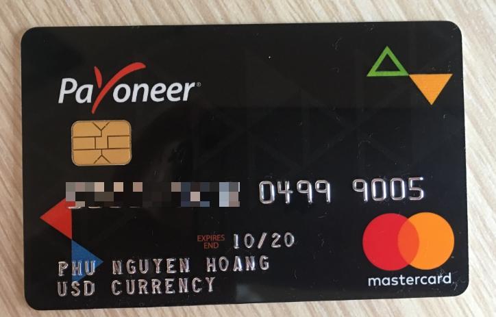 thẻ payoneer của góc của phú