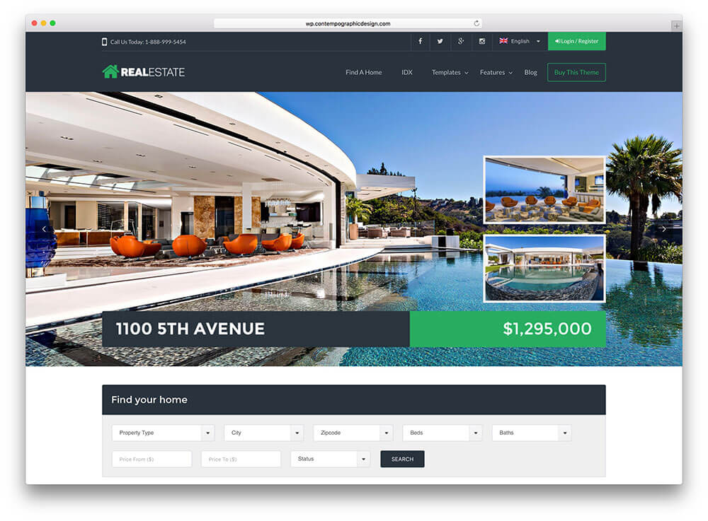 wp real estate 7 wordpress theme themeforest
