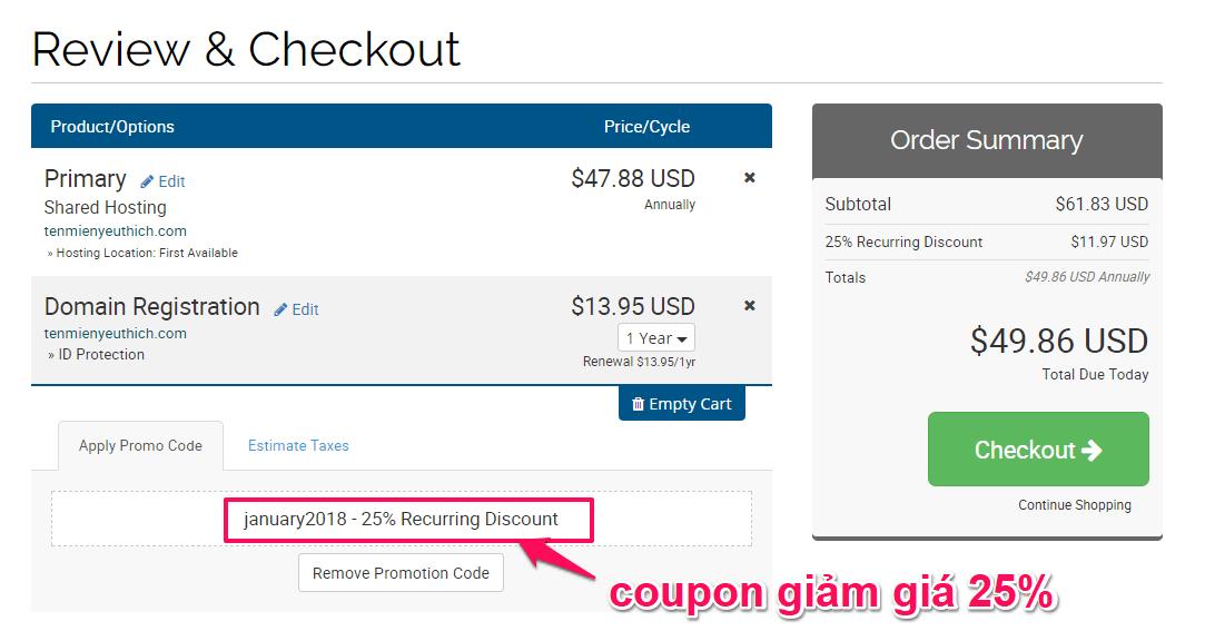 kiểm tra thông tin thanh toán hawkhost