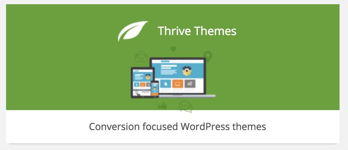 Theme cho blog của Thrivetheme