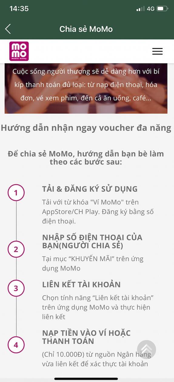 Hướng dẫn 4 bước kiếm tiền trên ứng dụng momo