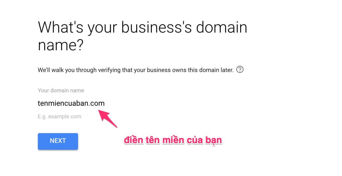What is your business domain name