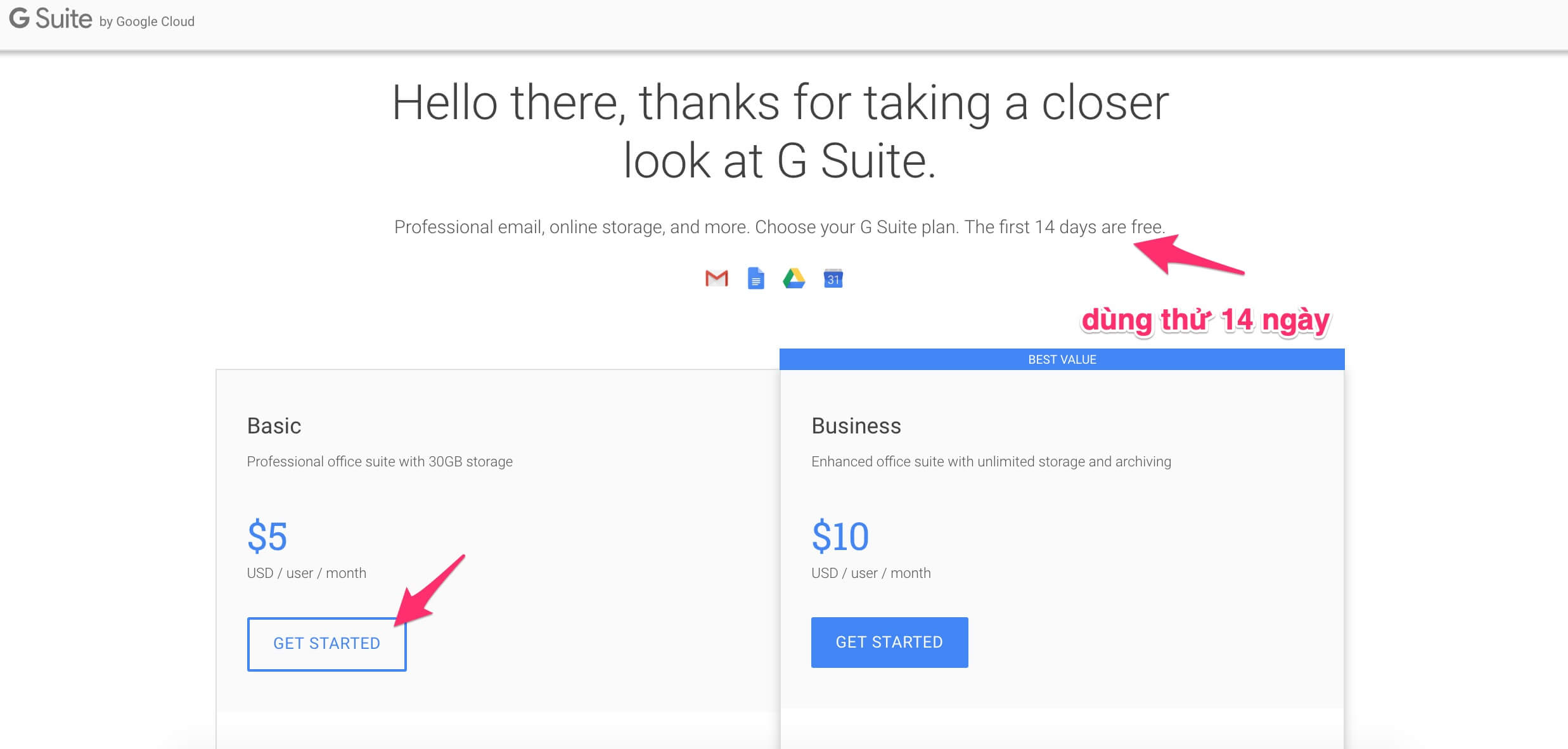 Take a closer look at G suite
