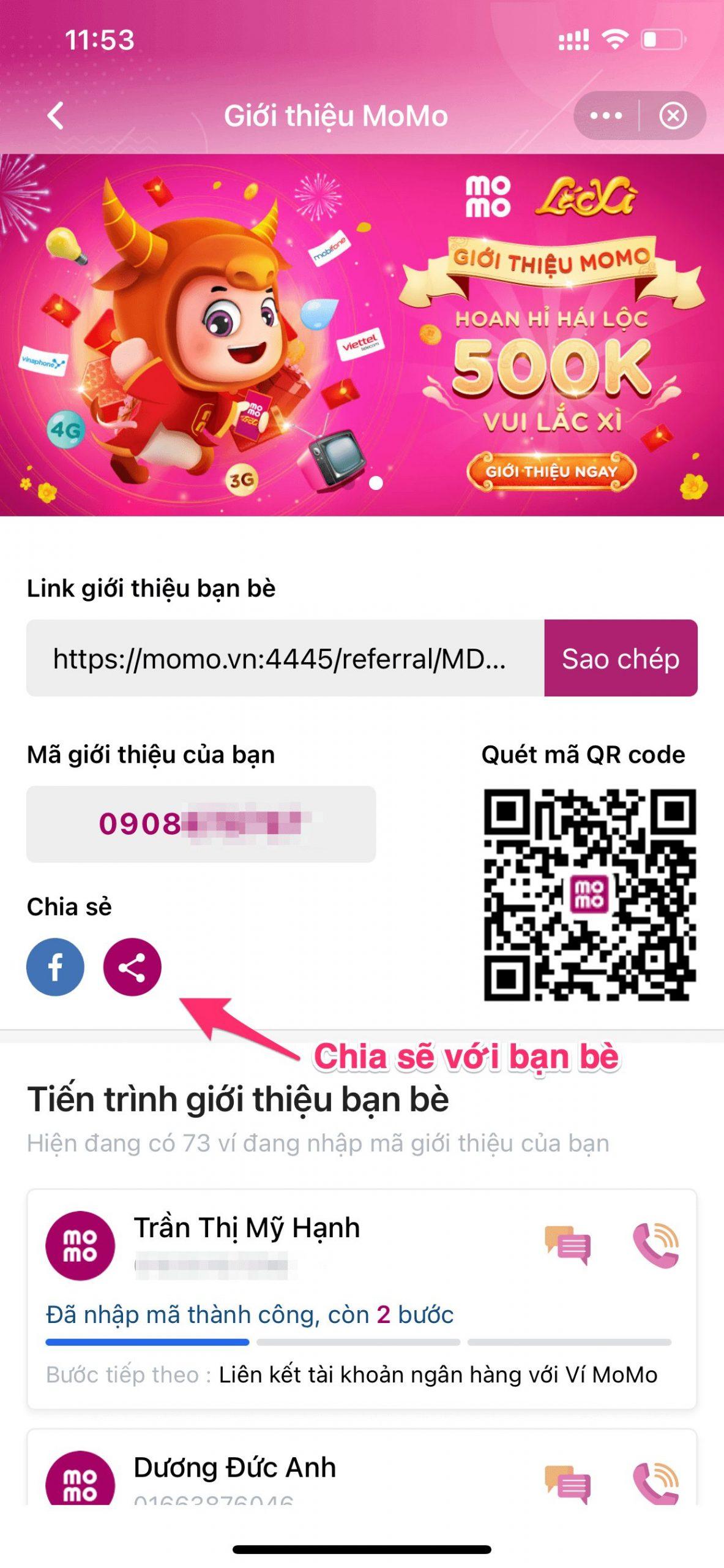 hướng dẫn giới thiệu ví Momo