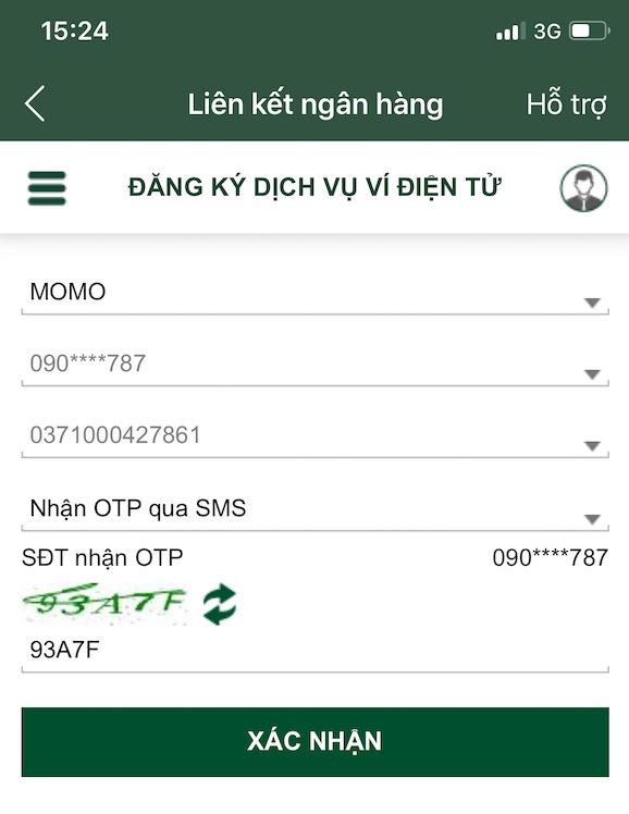 Đăng ký dịch vụ ví điện tử kiếm tiền online với momo