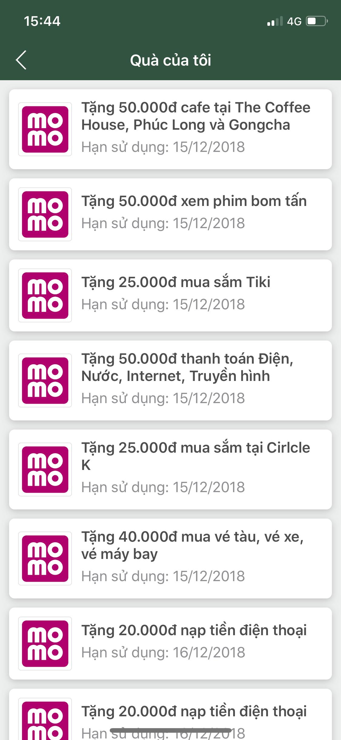 quà kiếm được từ kiếm tiền online với ứng dụng momo