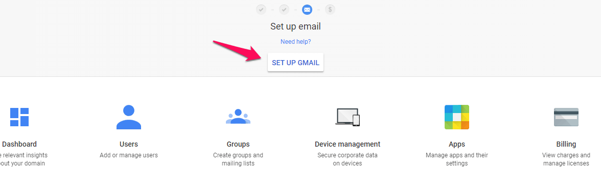 how to set up email G suite