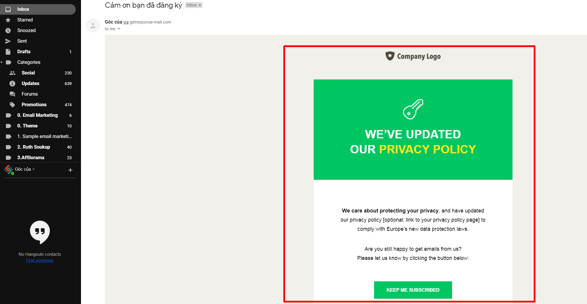 Email getresponse mầu hoàn chỉnh