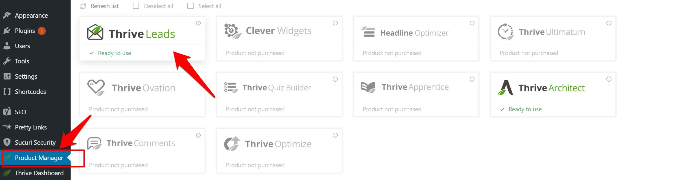 hướng dẫn cài form thrive lead vào website wordpress