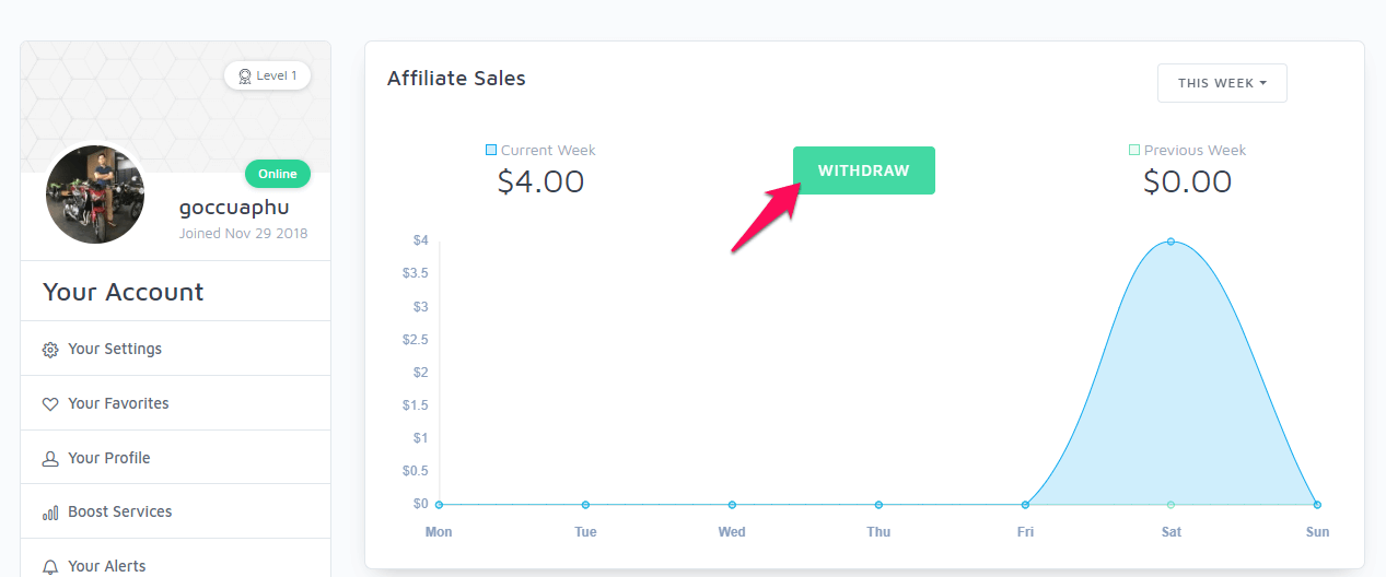 Rút tiền về tài khoản từ seoclerk