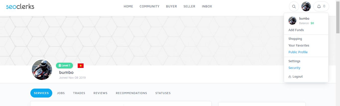 xác nhận số điện thoại với seoclerk
