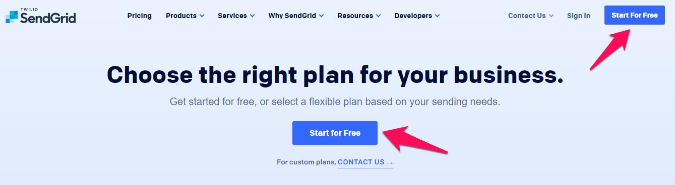 đăng ký tài khoản miễn phí Sendgrid