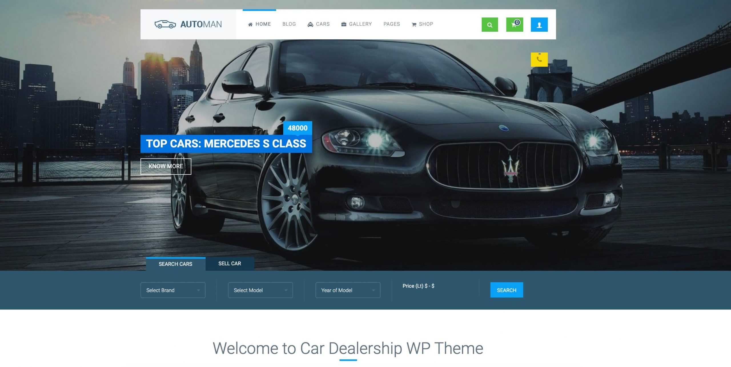 Automan - Advanced car dealer theme for auto