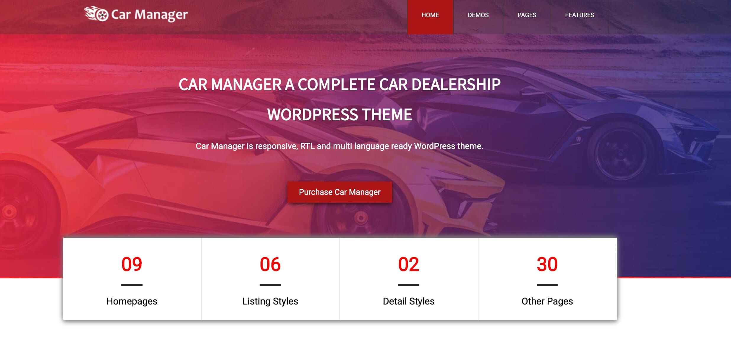Car Manager - Car Dealership Business wordpress theme cho o to