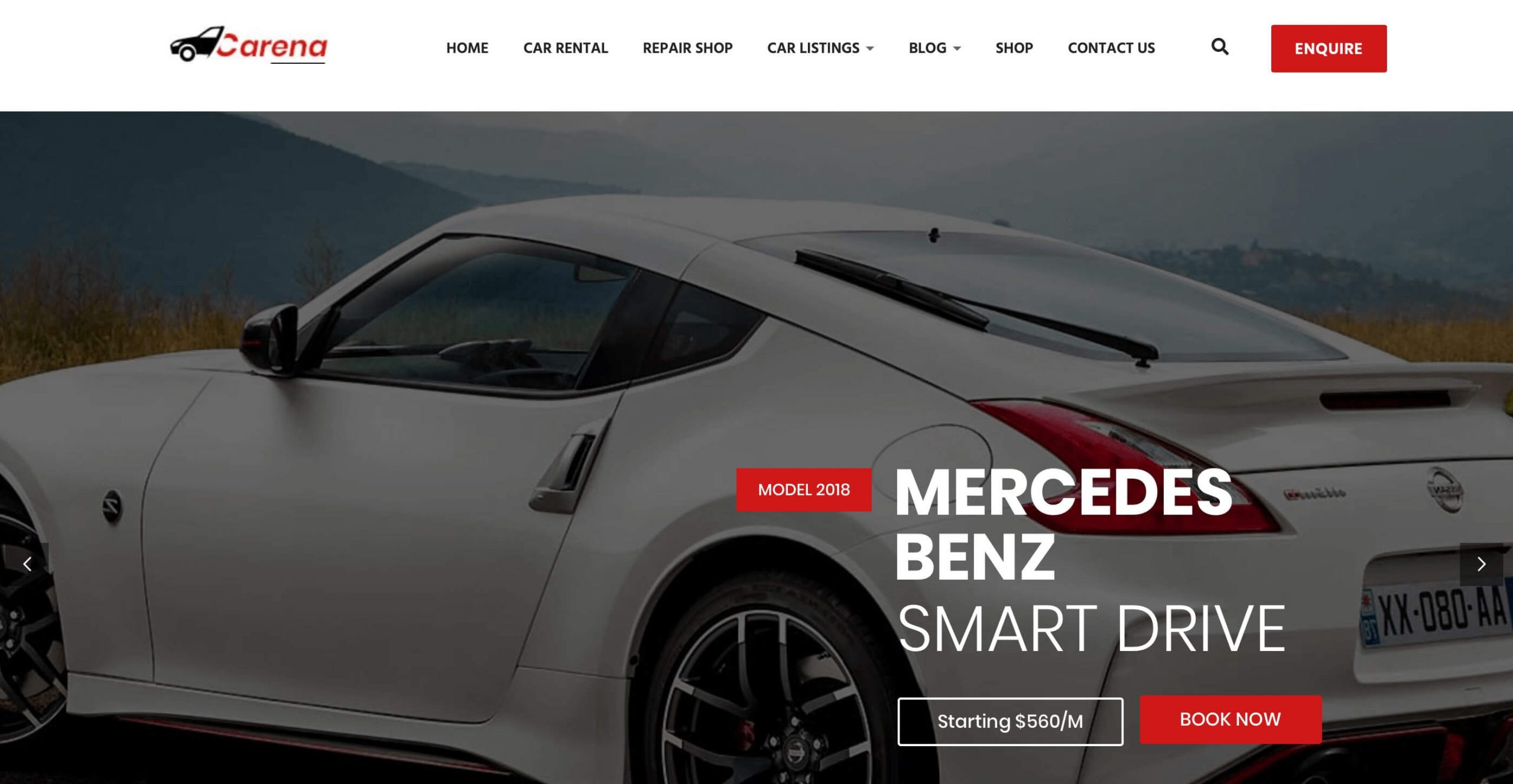 Carena - Car Dealer rental and automotive theme for auto