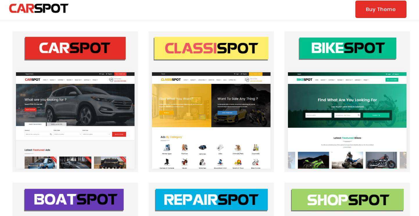 Carspot - Car Dealership wordpress Classified theme