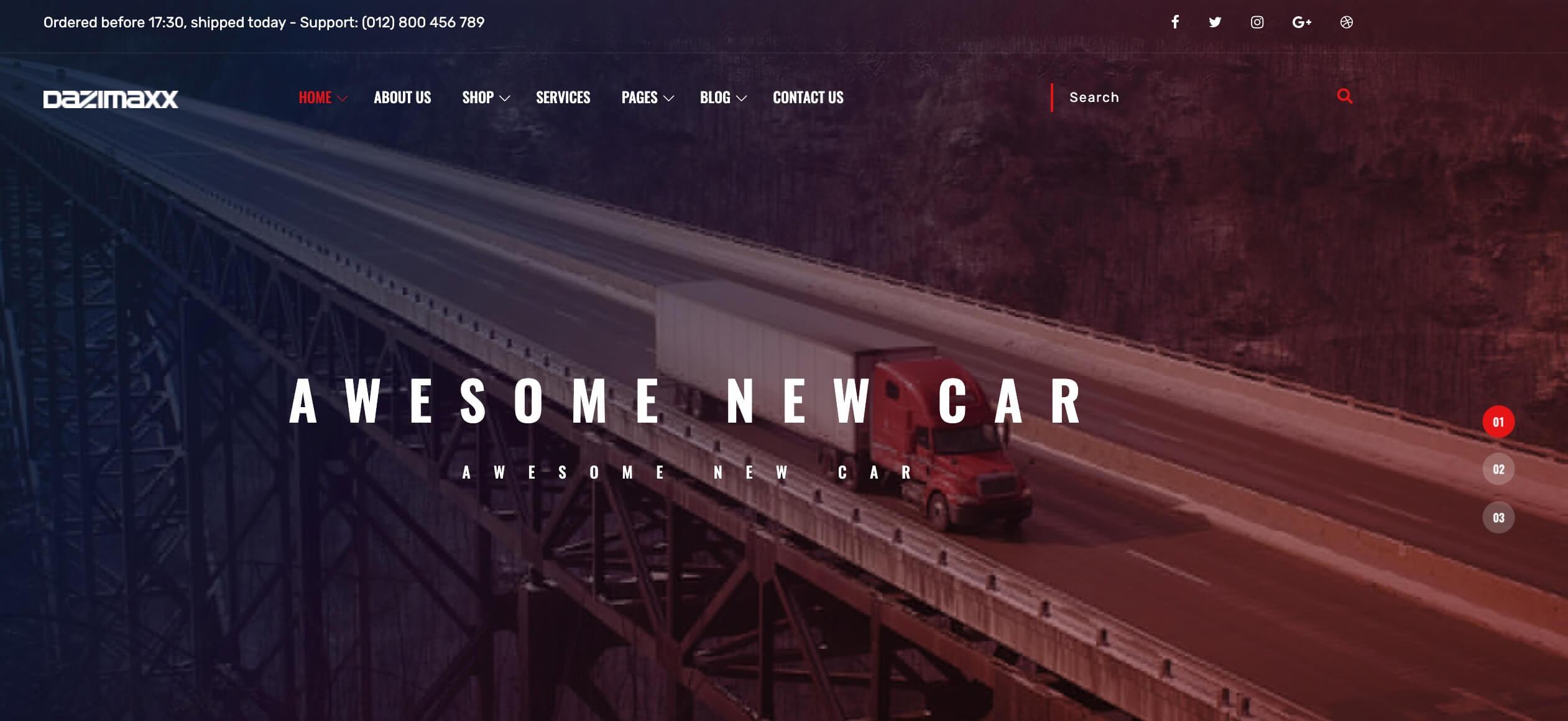 Dazimaxx - Car Dealer theme danh cho ô tô