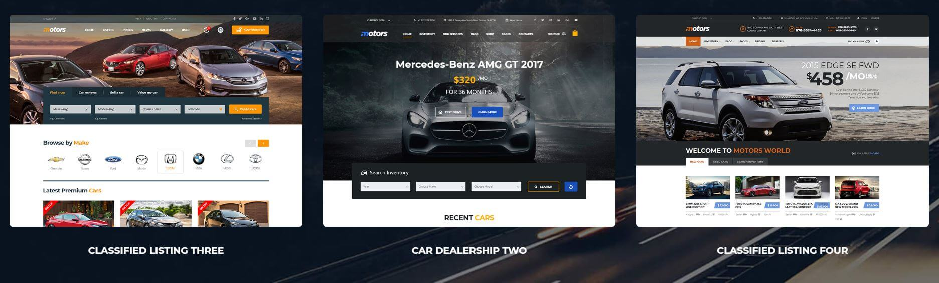 Motors - Cars Rental Classifieds wordpress theme