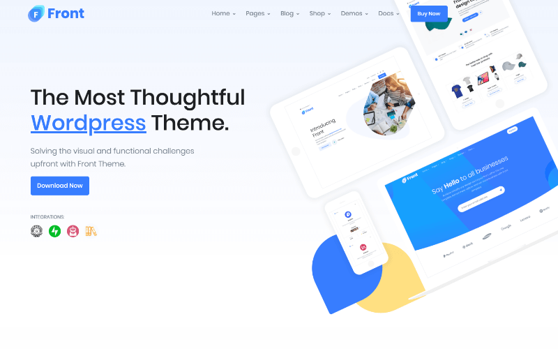 theme front themeforest