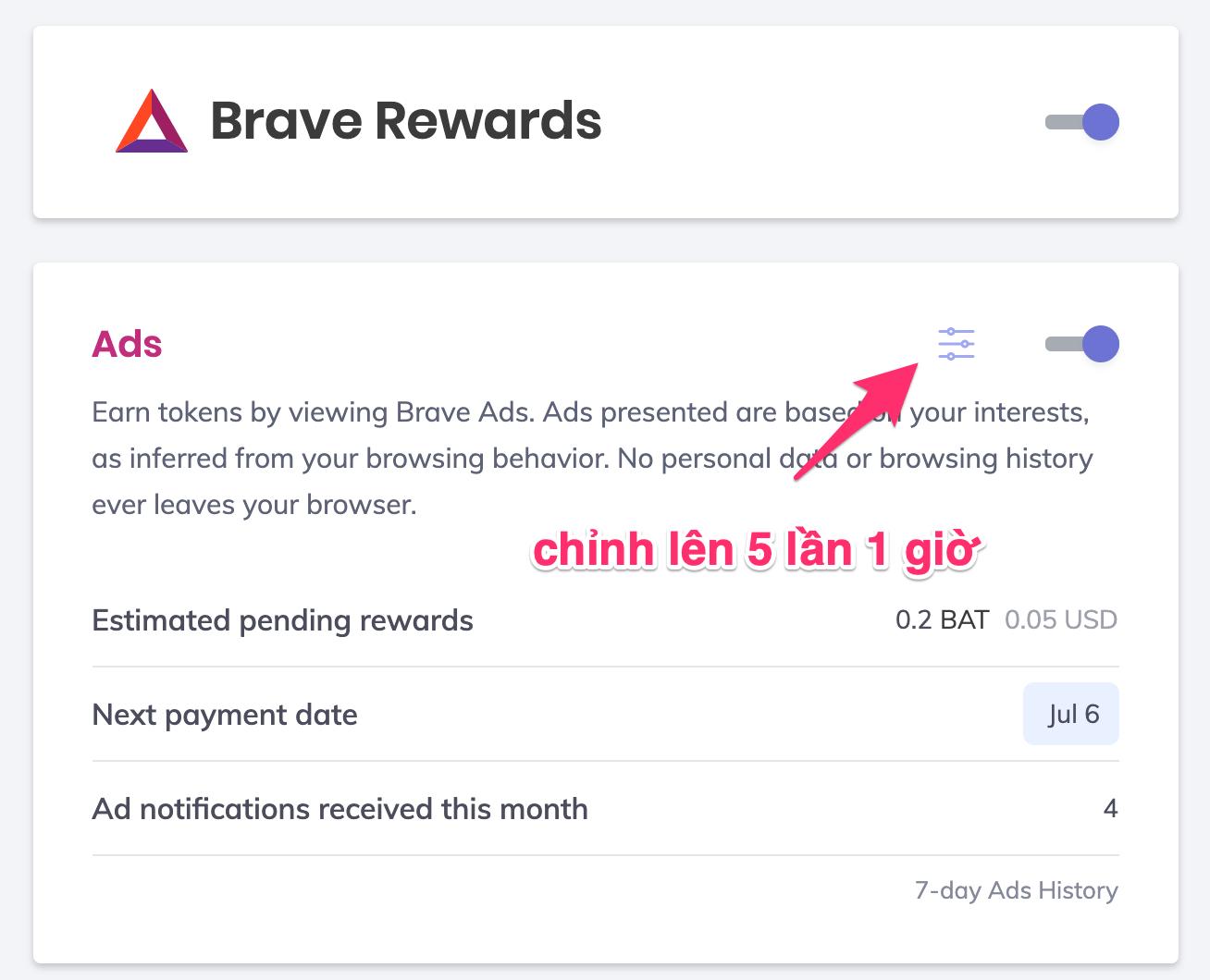 cách kiếm tiền với brave rewards
