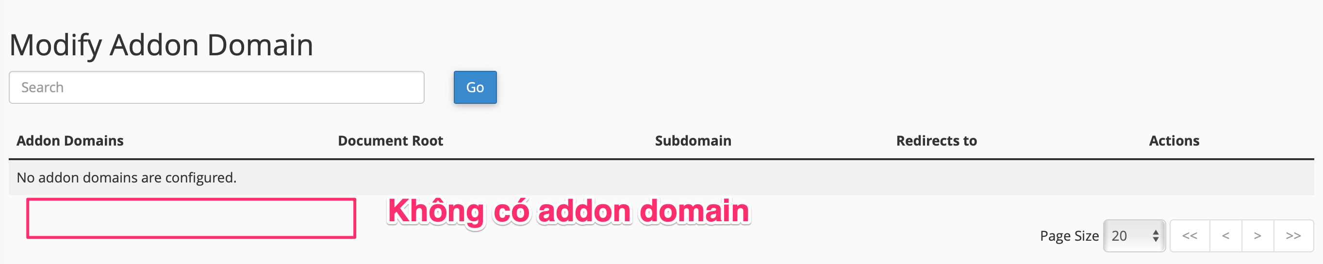 modify addon domain tren hosting