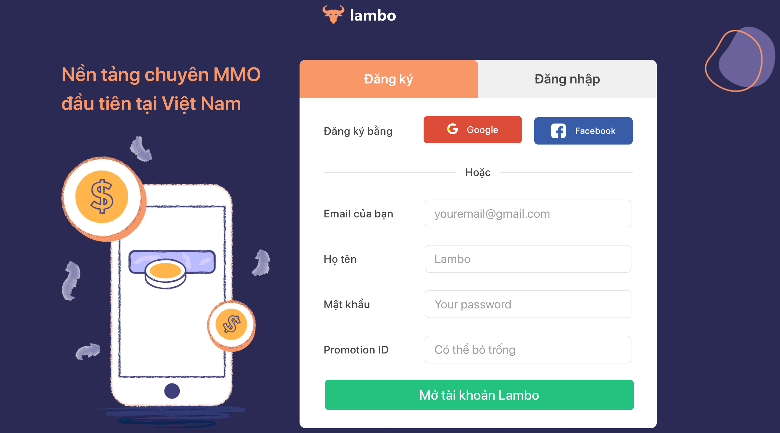 hướng dẫn đăng ký tài khoản lambox