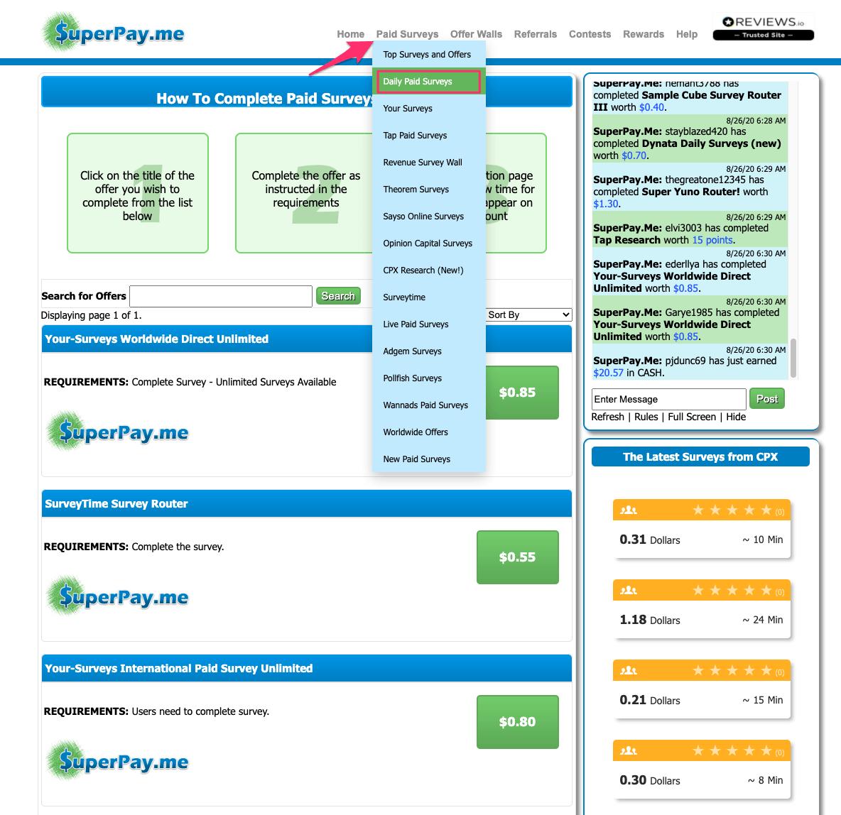 Cách làm khảo sát kiếm tiền với superpay