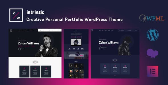Intrinsic - Creative Personal Portfolio WordPress Themes