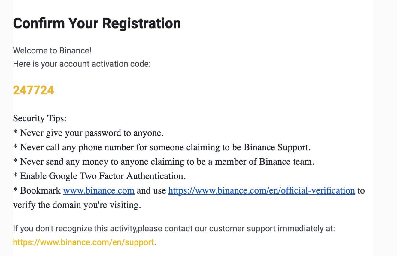 xác nhận thông tin đăng ký binance