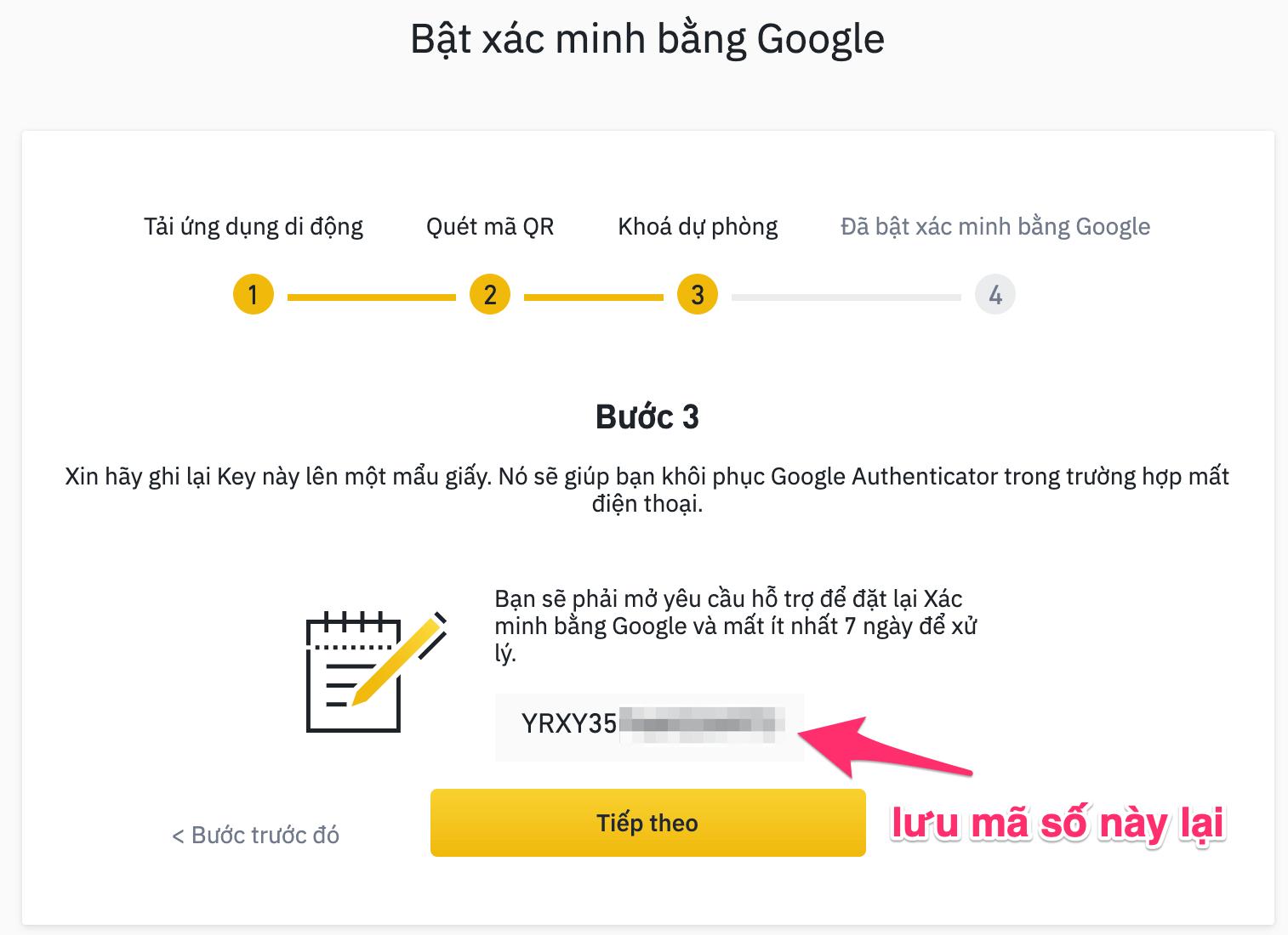 mã bảo mật back up google authentication