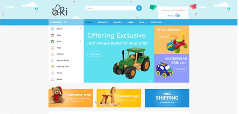 Aki - Multipurpose Kids WordPress Theme
